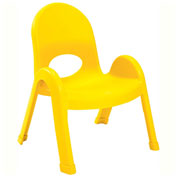 "Angeles Value Stack 9"" Chair Canary Yellow"