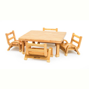 "Angeles Naturalwood Toddler Table & 4 Chair Set 30"" x 30"" x 12"""