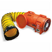 "Allegro COM-PAX-IAL Blower With 25' Ducting & Canister 9543-25, 12"" Dia., 1HP, 1842 CFM"