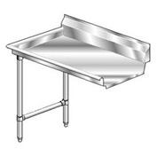 Aerospec SS NSF Clean Straight w/ Left Drainboard - 72 x 30