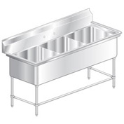 Aero 2F3-2420 Aerospec Three Compartment NSF Sink- 2F3-2420