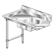 Aerospec SS NSF Soiled Straight w/ Left Drainboard - 72 x 30