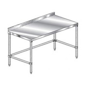 "Aero Manufacturing 2TGSX-3696 96""W x 36""D Stainless Steel Workbench with 2-3/4"" Backsplash"