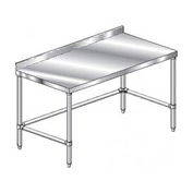 "Aero Manufacturing 2TSSX-24132 132""W x 24""D Stainless Steel Workbench, 2-3/4"" Backsplash"