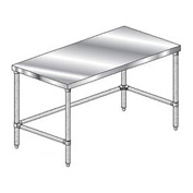 "Aero Manufacturing 2TSX-3648 Stainless Steel Workbench - 48""W x 36""D Premium Flat Top Workbench"