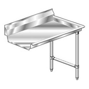 Deluxe SS NSF Clean Straight w/ Right Drainboard - 72 x 30