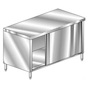 """Aero Manufacturing 3TSOD-3060 60""""W x 30""""D Deluxe Flat Top Cabinet, Sliding Doors"""