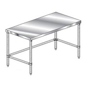 "Aero Manufacturing 4TGX-2472 72""W x 24""D Economy Flat Top Workbench Galv. Legs and Crossbracing"
