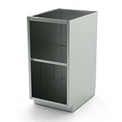 """Aero Stainless Steel Base Medical Cabinet BC-1005 - Open, 1 Shelf, 48""""W x 21""""D x 36""""H"""