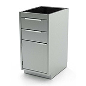 "Aero Stainless Steel Base Medical Cabinet BC-2600 - 3 Drawers, 18""W x 21""D x 36""H"