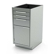 "Aero Stainless Steel Base Medical Cabinet BC-2700 - 4 Drawers, 18""W x 21""D x 36""H"