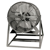 "Americraft 24"" Steel Propeller Fan With Medium Stand 24DS-1M-3-TEFC 1 HP 7350 CFM"