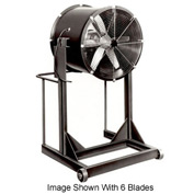 "Americraft 36"" Steel Propeller Fan With High Stand 36DSL-1-1/2H-1-TEFC 1-1/2 HP 14500 CFM"