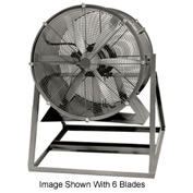 "Americraft 48"" TEFC Aluminum Propeller Fan With Medium Stand 48DAL-7-1/2M-3-TEFC 7-1/2 HP 37000 CFM"