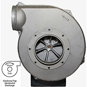 Americraft Aluminum Blower, HADP10-11/2-T-TE-CWTH, 1-1/2 HP, 3 PH, TEFC, CW, Top Horizontal