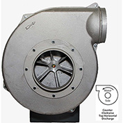"Americraft Aluminum Blower, HADP12, 3 HP, 1 PH, TEFC, CCW, 115/230V, TH, Wheel 11-1/2"" X 2-3/4"""