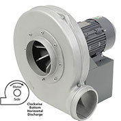 "Americraft Aluminum Blower, HADP12, 3 HP, 3 PH, TEFC, CW, 230/460V, BH, Wheel 11-1/2"" X 2-3/4"""