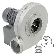 Americraft Aluminum Blower, HADP12, 3 HP, 3 PH, TEFC, CCW, 230/460V, Bottom Horizontal