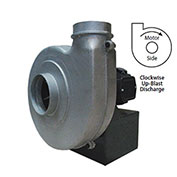 Americraft Aluminum Blower, HADP8-1/2-T-TE-CWUB, 1/2 HP, 3 PH, TEFC, CW, Upblast