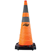 """Aervoe 36"""" HD Collapsible Safety Cone With LED Light, Weighted Base, 1187"""