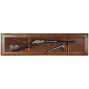 American Furniture Classics 841 Horizontal Wood Gun Display - 1 Gun