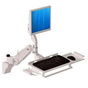 Wall Mount Arm with Keyboard & Mouse Tray - Extends 2 Ft. and 5 In.