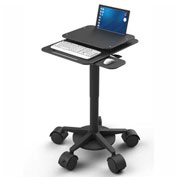Best Mounting Height Adjustable Mobile Laptop Cart, Black