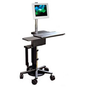 Pole Cart™ w/ Utility Shelf, Keyboard & Mouse Tray, CPU Holder