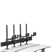 Desktop Monitor Mounts w/ 4 Z-Arms & Clamps - Black