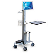 Upright Cart™ w/ Handle, Wire Basket, Utility Shelf