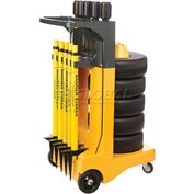 "Banner Stakes Standard Cart Package, Yellow ""Wet Floor"" Banner"