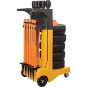 "Banner Stakes Standard Cart Package, Orange ""Construction Zone"" Banner"