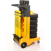 """Banner Stakes Standard Cart Package, Yellow """"Cleaning in Progress"""" Banner"""