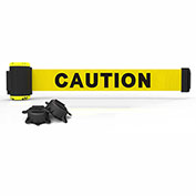 """Banner Stakes MH7001 - 7' Magnetic Wall Mount Barrier, """"Caution"""" Banner"""