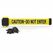 """Banner Stakes MH7003 - 7' Magnetic Wall Mount Barrier, """"Caution - Do Not Enter"""" Banner"""