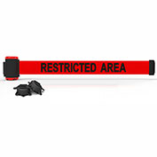 """Banner Stakes MH7007 - 7' Magnetic Wall Mount Barrier, """"Restricted Area"""" Banner"""
