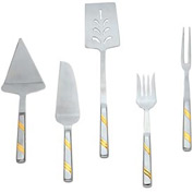 Alegacy 120GD - Goldcrest™ Stainless Steel Cold Meat Fork, Gold Trim - Pkg Qty 12