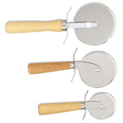 "Alegacy 2004PC - Pizza Cutter, Wood Handle, 3 1/2"" Dia."