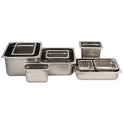 "Alegacy 55126 - Steam Table Pan, 1/2 Size, 11 Qt., 25 Ga. Stainless Steel, 10-3/8""W x 12-3/4""D x 6""H - Pkg Qty 6"