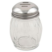 Alegacy 803DZ - 6 Oz. Cheese Shaker, Slotted Top Swirl Glass 12 Pack