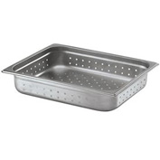 Alegacy 88122P - 4.5 Qt. Half Size Steam Table Pan Perforated Anti Jam, 24 Ga. - Pkg Qty 6