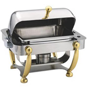 Alegacy AL530A - Half, Size Dome Cover Savoir™ Chafer With Brass Legs