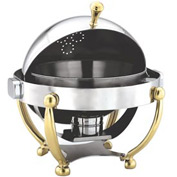 "Alegacy AL570A - 15"" Round Savoir™ Chafer With Brass Legs"