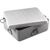Alegacy HDAS20177 Heavy-Duty Aluminum Roast Pan & Cover-Set, 20-7/8 x 17-3/8 x 7