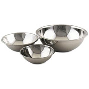 """Alegacy S773 - 3 Qt. Stainless Steel Mixing Bowl 9-1/2"""" Dia. - Pkg Qty 12"""