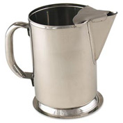 Alegacy S980 - Water Pitcher With Ice Bridge Stainless Steel 64 Oz.