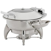 """Alegacy SL585 - Stainless Steel Lid For 13"""" Round Savoir™ Induction Chafer"""