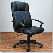 Alera Leather Chair - High Back - Black - CL Series