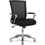 Alera Mesh Chair - Mid Back - Slim Profile - Black/Chrome - ENR Series