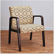 Alera Reception Guest Chair - Fabric - Mahogany/Tan